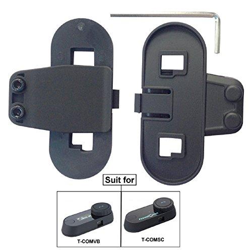FreedConn Zubehör Clip für Motorrad Helm Gegensprechanlage Bluetooth Gegensprechanlage Helm Bluetooth Intercom Sprechanlage für TCOM SC & TCOM VB -