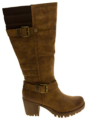 Bottes brown genou oliver cuir S Faux de femmes Hautes HYwFpB