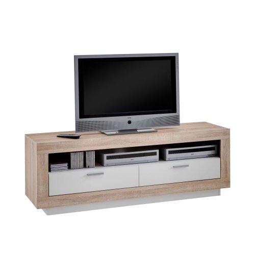 FMD Möbel 229-001 TV / HiFi-Möbel Chat 150 x 53 x 41,5 cm, eiche / weiß