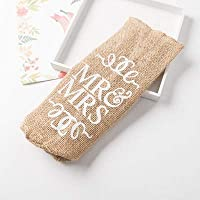 Canjerusof Jute Burlap Wine Bottle Cover Gift Bag Rustic Wedding Decoration Anniversary Party Decoration Wine Accessories
