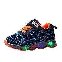 FRAUIT babyschoenen, LED mesh sneaker sportschoenen spinnenweb-zachte vloer oplichtend turnschoenen kinderen meisjes jongens lichte schoenen ademende klittenbandsluiting sneakers voor jongens meisjes