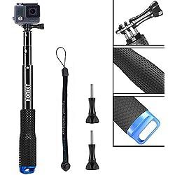 Homeet 49CM Perche Selfie pour GoPro, Selfie Stick Télescopique Perche Étanche pour Caméra d'action SJCAM/ Akaso/ Garmin Virb/ DBPOWER/ YI 4K/ QUMOX/ Rollei/ Apeman etc.