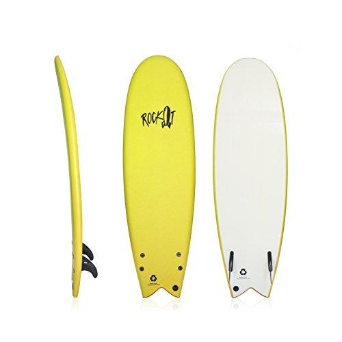 """Rock-It 5'8""""Albert Tavola da Surf (Giallo)"""