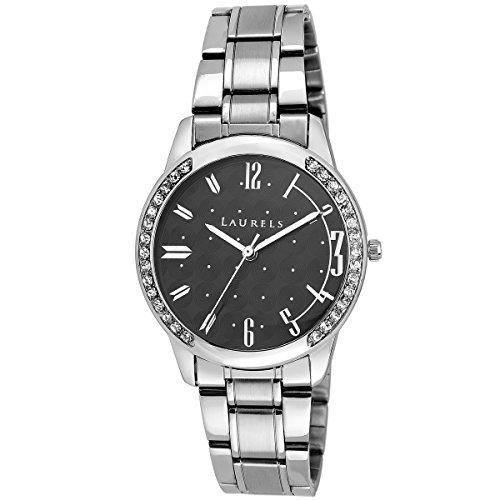 Laurels Black Color Analog Women's Watch With Metal Chain: LWW-AGS-II-020707