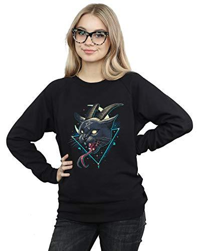 Absolute Cult Vincent Trinidad Damen Rad Devil Cat Sweatshirt Schwarz XXX-Large Devils Damen-sweatshirts