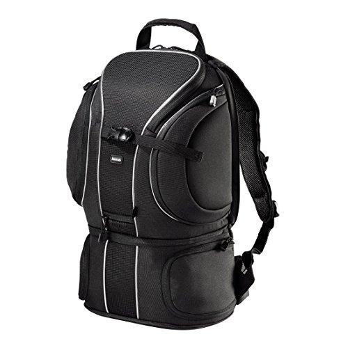 Hama Kamerarucksack für zwei Spiegelreflex Kameras mit Objektiv und acht weitere Objektive (gepolstertes Tabletfach, Zugriff über Rückenteil, Schnellzugriff, Daytour 240) schwarz
