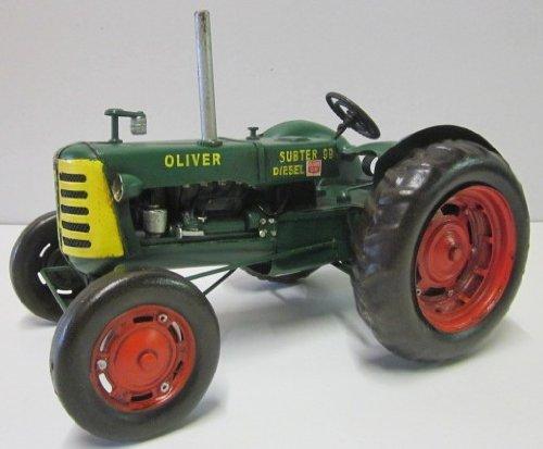 Oliver Traktor (Traktor Oliver grün Blech Blechtraktor Blechmodell für Sammler ca. 30 cm 37359)