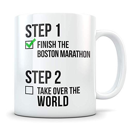 Boston Marathon Gifts for Men and Women Funny Marathoner Coffee Mug Great Massachusetts Marathon Gift Idea for Runners Athletes or First Timers Boston-timer