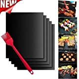 Hot 5PCS Non-Stick BBQ Magic Grill Mat Perfect for Baking on Gas Heat Resistant