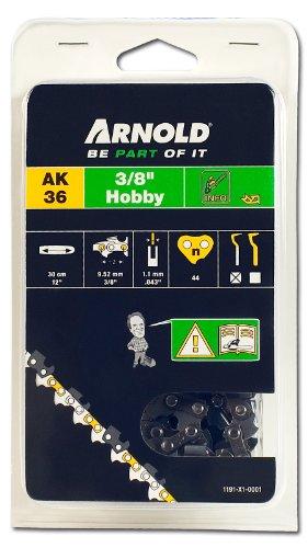 Arnold 1191-X1-0001 Sägekette 3/8 Zoll Hobby, 1.1 mm, 44 Treibglieder, 30 cm Schwert