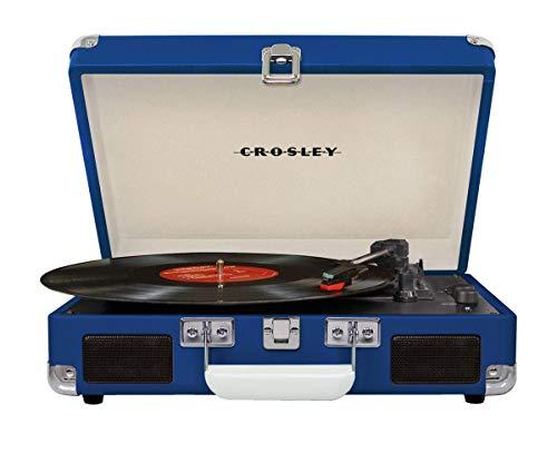 Crosley Cruiser Deluxe Tragbarer Bluetooth Plattenspieler im Retro Design, Blau