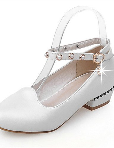 WSS 2016 Chaussures Femme-Mariage / Habillé / Décontracté / Soirée & Evénement-Rose / Rouge / Blanc-Gros Talon-Talons-Talons-Similicuir red-us7.5 / eu38 / uk5.5 / cn38