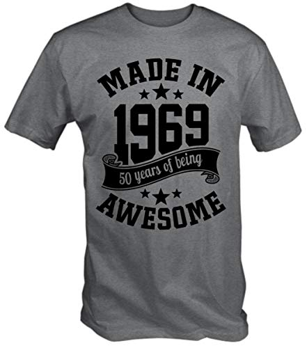 Mens Made in 1969 T-shirt - 50 Years of Being Awesome