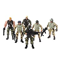 Dabixx 6Pieces/Set Action Figure Army Soldiers Toy with Weapon Military Figures Child Toy 10x5 cm