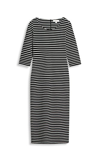 ESPRIT Damen Kleid Mehrfarbig (Black 001)