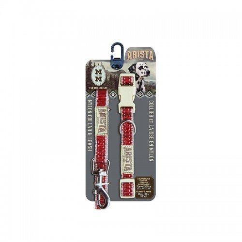 Halskette und Armband Arista by Zeus-sólido-rojo Medium - Medium Armband