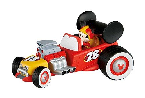 Bullyland 15459 - Disney Micky und die flinken Flitzer Spielfigur, Rennfahrer Micky im Auto