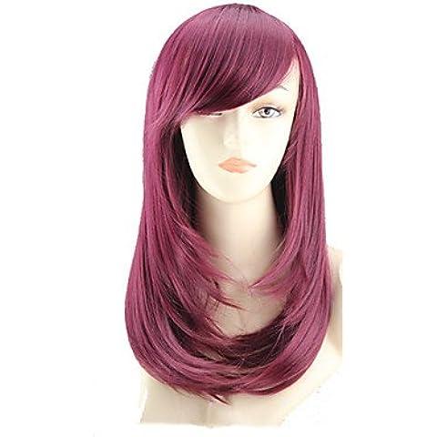 OOFAY JF® peluca del color de la flor de la historieta larga de pera tiene un largo rollo de peluca roja vino vender como pan caliente , fuxia