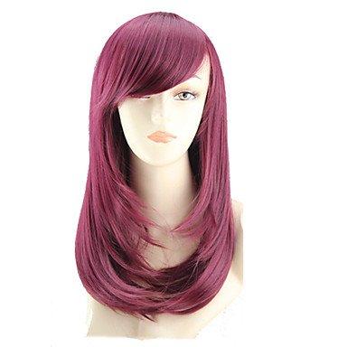 HJL-cos couleur perruque de bande dessin¨¦e longue poire fleur a un long rouleau de vin rouge perruque vendre comme des petits pains , fuxia