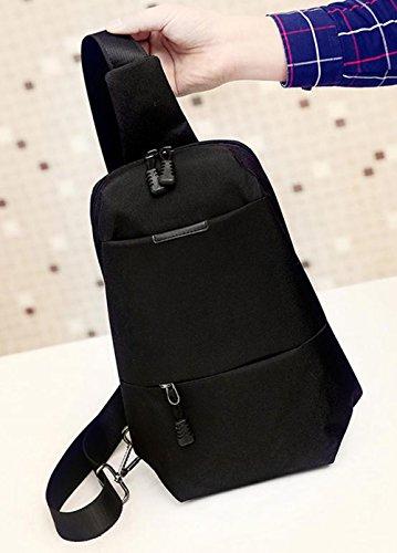 LAAT Herren Canvas Chest Pack beiläufigen Bauchtasche Gürteltasche Joggen Sportlich Freizeit Radfahren Tasche Crossbody Tasche schwarz