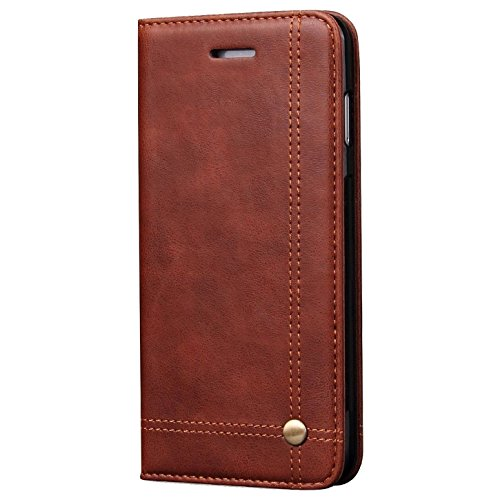 Verus Premium Hidden Magnet Close Leather Flip Wallet Case With Card Slot (inner Tpu) For Apple Iphone 7 Plus - Brown