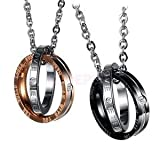 Best Necklace His And Hers - ELECTROPRIME 2pcs Rhinestone His&Hers Love Promise Engraved Ring Review