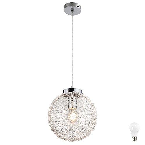 Hänge Leuchte Schlaf Zimmer Kugel Geflecht Strahler Pendel Decken Lampe im Set inkl. LED Leuchtmittel