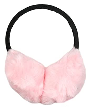 Ladies Plush Ear Muffs by RJM Pink