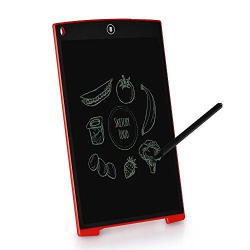 TKSTAR Writing Tablet/LCD Grafiktablet/Elektronischer Notizblock für Kinder schriftlich, Zeichnung, Büro Memo Board, Kühlschrank Message Board und als Comunication Tool ISU1200 (Rot)