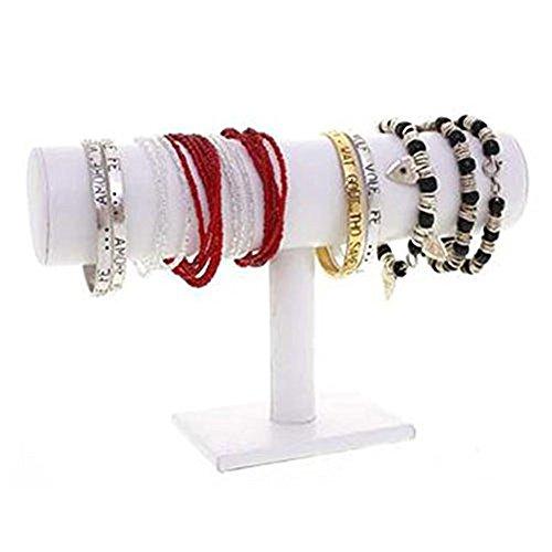 SMO Schmuckständer kleiderständer für Uhren Armband Samt Armbandständer (Weiß)