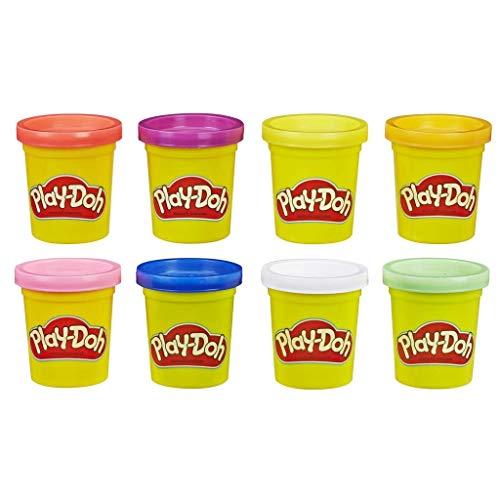Hasbro Play-Doh 8 Pack Rainbow, 8 Barattoli