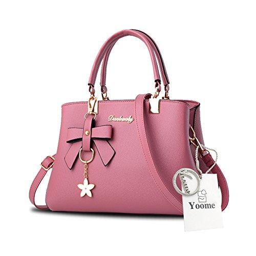Sacchetti eleganti della borsa della maniglia del pendente del fiore di Yoome per le donne con i sacchetti casuali del pannolino - azzurro Rosa