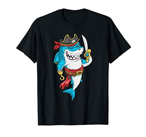 Weiß Blau Haifisch Und Kostüm - Piraten Hai Karneval weißer Hai Halloween Piraten Kostüm T-Shirt