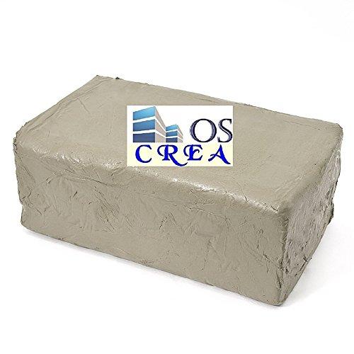 OSCrea Soft-Ton weiss 5000gramm lufthärtend / brennbar 1000°C-1300°C, be creative by OSCrea