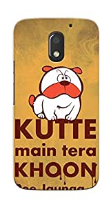 Kaira High Quality Printed Designer Back Case Cover For Motorola Moto E3 Power(Dog)