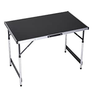 Znl aluminum folding table camping desk foldable adjustable height 100x60x 73 80 87 94 cm ewt 01 - Camping table adjustable height ...