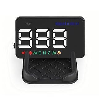 GOGOLO 3.5'' A5 GPS HUD Head Up Display Km/h MPH Over Speed Alarm Speedometer for All 12V Vehicle SUV, Cigarette Lighter Powered & 2 Displays Alternatives(HUD & Standard)