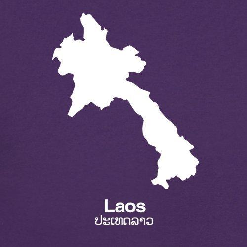 Laos Silhouette - Herren T-Shirt - 13 Farben Lila