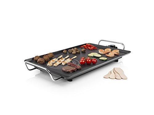 Princess Table Chef Hot-Zone - Plancha de Aluminio Indeformable con Zona Extracaliente, 60 x 36 cm, 2500 W