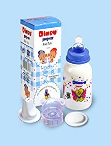 Dimpu poop-cee Roly Poly 125 ml and 250ml Polycarbonate Feeding Bottle With LSR Nipple+Soother+ 2 LSR Nipples