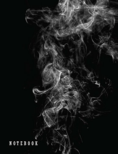 Notebook: Smoke on balck cover and  Dot Graph Line Sketch pages, Extra large (8.5 x 11) inches, 110 pages, White paper, Sketch, Draw and Paint (Smoke on balck notebook)