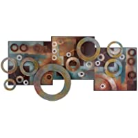 Astratta Wall Art in Metallo Scultura Home Decor MTL legno