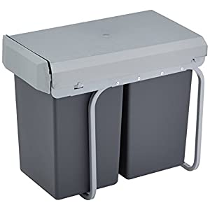 Wesco 755611-11 Einbau-Abfallsammler Double-Boy 2x 15 Liter