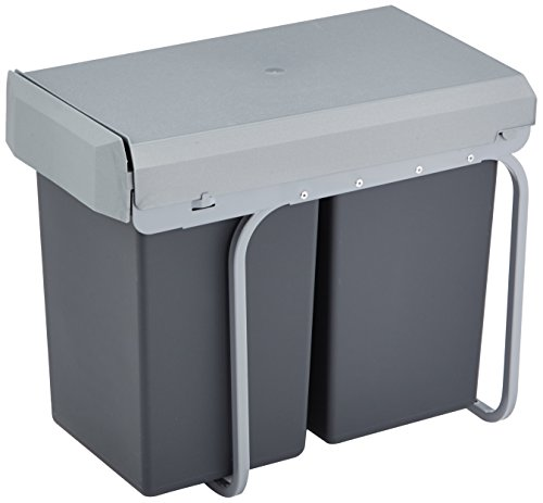 Wesco 12871 - Cubo Basura Integrado 2 Compartimentos