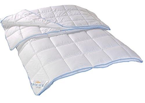 PROCAVE TopCool 4 Jahreszeiten Qualitäts-Bettdecke mit Druckknöpfen für Winter und Sommer | Soft-Komfort-Bettdecke | kochfeste Steppdecke | atmungsaktiv & wärmeausgleichend | Made in Germany | 200x220cm