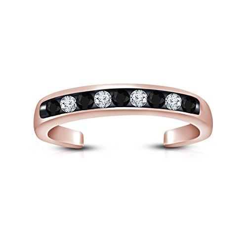 Vorra Fashion 14K Rose Gold Vergoldet Rund Cut Zirkonia 925Sterling Silber Jahrestag Band Zehenring