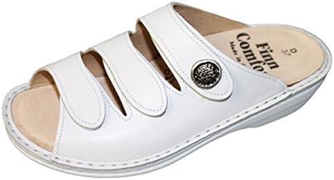 Finn Comfort - Zuecos de cuero para mujer blanco blanco