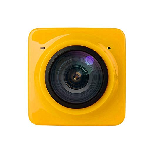 Taihang Wasserdichte Sport-DV-Recorder 360-Grad-HD-Panoramakamera Mini-Sport-Digitalkamera (Color : Yellow)