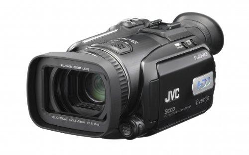 JVC GZ-HD7 HDD/SD Hybrid Camcorder (10fach opt. Zoom, fullHD 1080i, 60GB Festplatte)