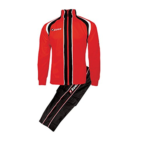 <span class='b_prefix'></span> Zeus TrackSuite Marko Man Woman Unisex Relax Running Jogging TrainingSuit RelaxSuit Jacket Trouser Football Soccer (RED BLACK WHITE, S)